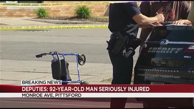 Deputies: 92-year-old man seriously injured after being hit by pickup truck in Pittsford