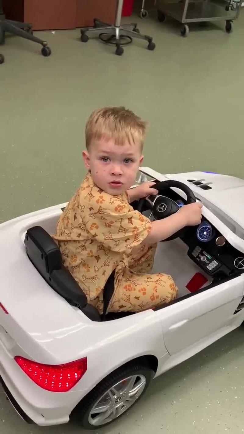 Kids 'driving' to the operating room at Golisano Children's Hospital