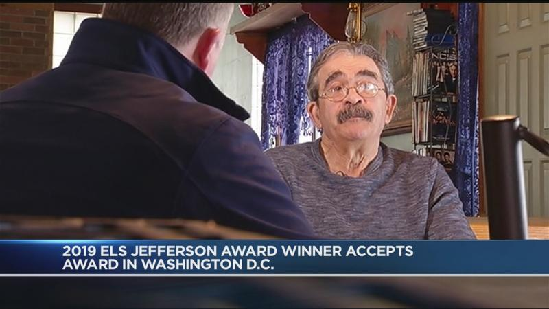 Local ESL Jefferson Award winner accepts award in Washington, DC