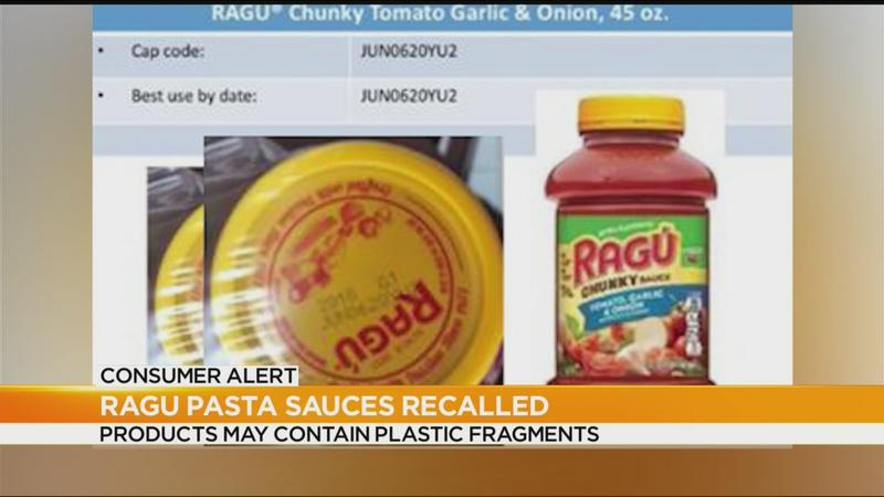 Nationwide recall issued for certain Ragù pasta sauces
