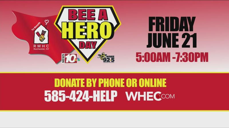 News10NBC, 92.5 WBEE teaming up for BEE A Hero Day