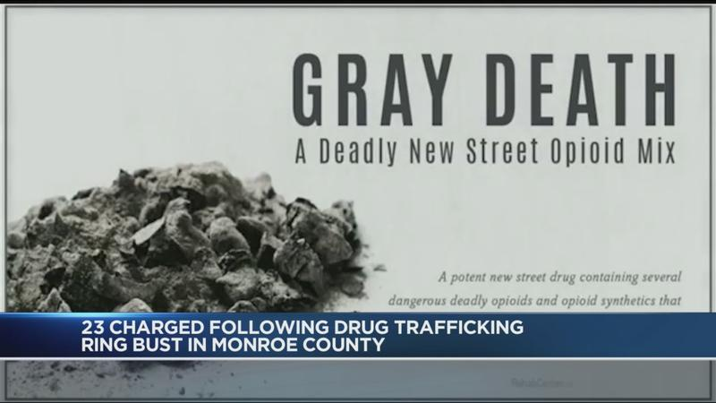 Operation Gray Roc: 23 charged following drug trafficking ring bust in  Monroe County