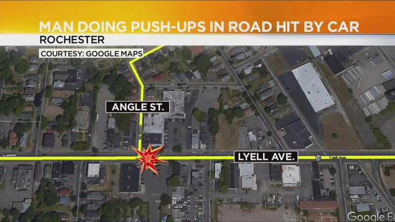 Police: Man doing push-ups in street gets hit by car