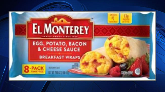 El Monterey recalls breakfast wraps, fears small rocks in meat