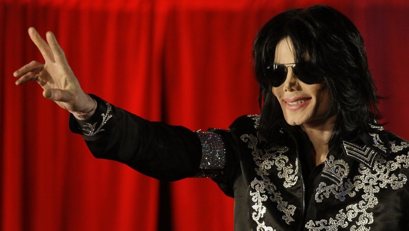 FILE - This March 5, 2009 file photo shows Michael Jackson as he announces ten live concerts at the London O2 Arena in south London.