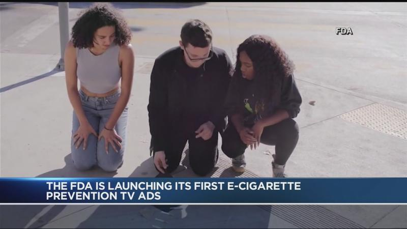 FDA launches TV ad campaign with to curb teen vaping