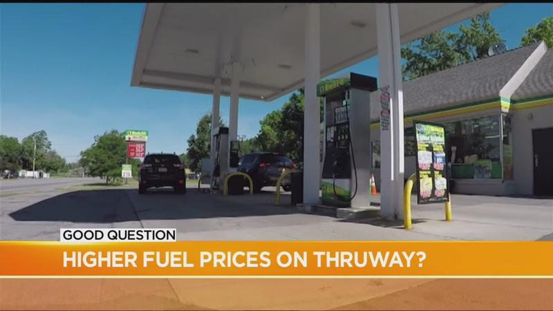 Why are gas prices higher on the Thruway?