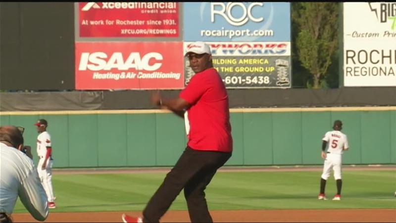 Highlights: Red Wings face Norfolk; Thurman Thomas to throw out first pitch