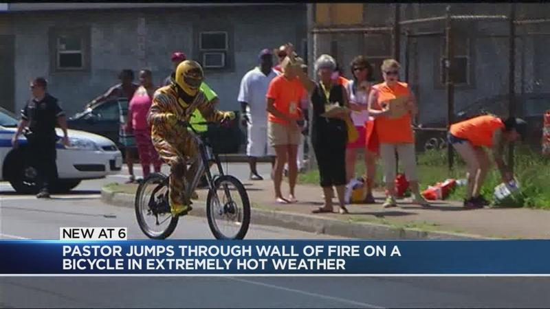 WATCH: Local pastor attempts daring stunt on a bicycle