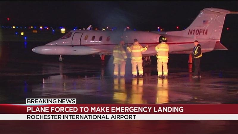 Small plane forced to make emergency landing at Rochester airport