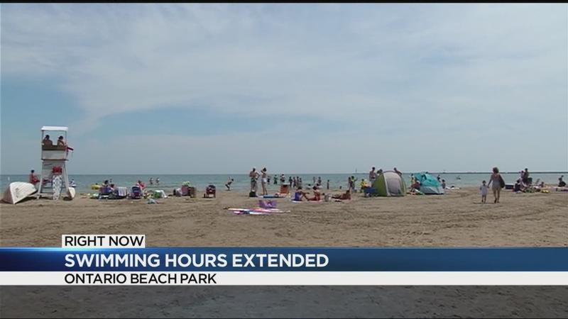 Swimming hours extended at Ontario Beach Park due to heat