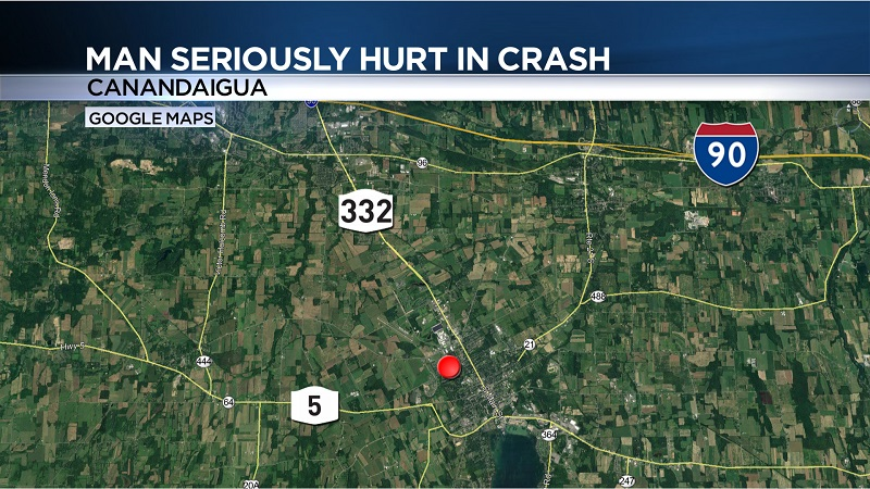 Man seriously hurt in Canandaigua rollover crash