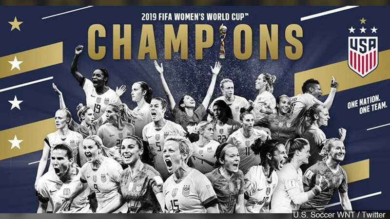 Watch live: US women's soccer team World Cup victory parade