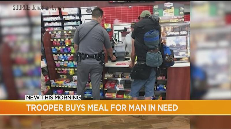 'It doesn't take much': Trooper's act of kindness caught on camera