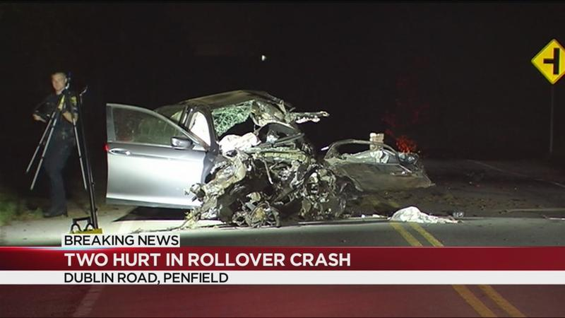 Driver seriously injured after rollover crash in Penfield