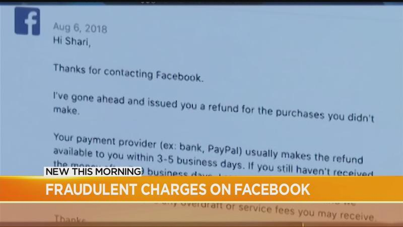 Facebook users getting hit with fraudulent charges