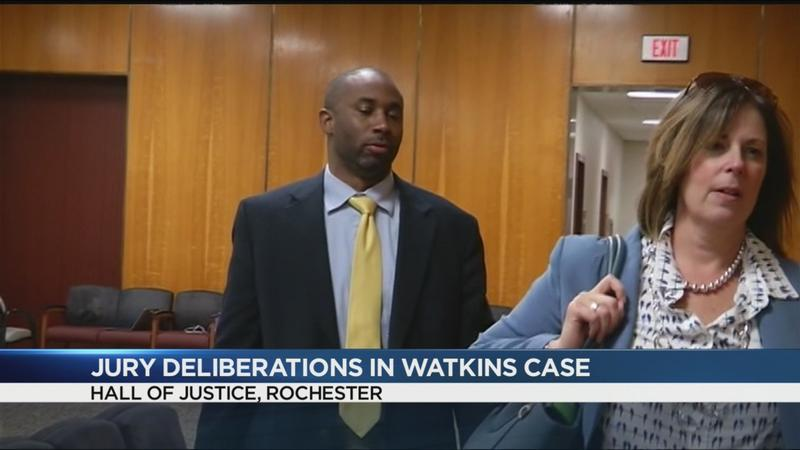 Jury dismissed in Watkins case; deliberations set to resume Monday