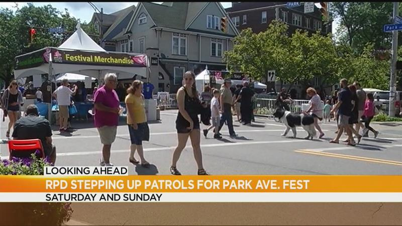 Police stepping up patrols for Park Ave Fest