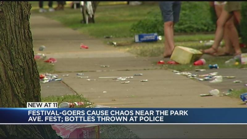 RPD: Bottles, debris thrown at police near Park Ave Fest
