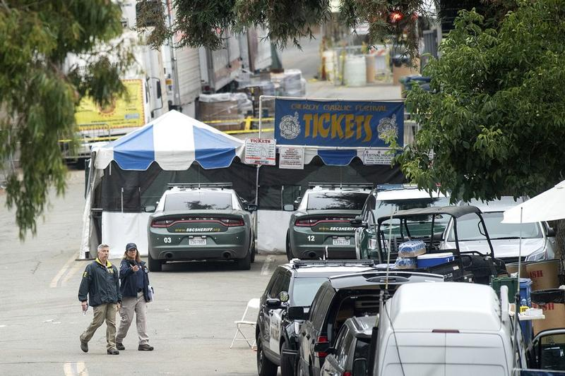 Gunman who shot three at US festival killed himself