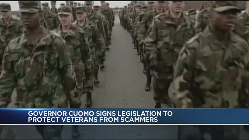 Cuomo signs bill to protect veterans from scammers
