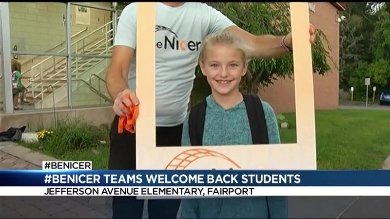 #BeNicer teams welcome back students