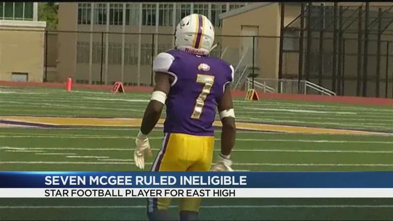 East High files appeal to get football star back on field