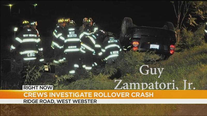 One person trapped in Webster rollover crash