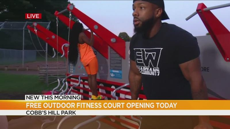 Free fitness court opens in Cobb's Hill Park