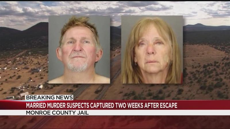 Married murder suspects captured 2 weeks after escape