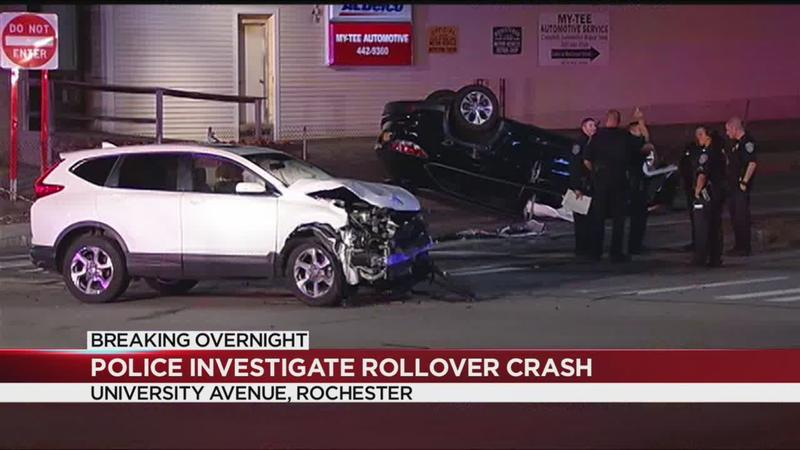 RPD: Driver runs red light, causing rollover crash on University Avenue
