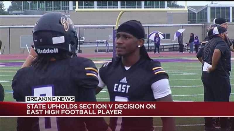 State upholds Section V decision on East High football star