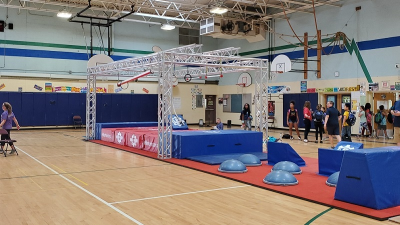 Ninja Warrior course sponsored by the Warrior Factory