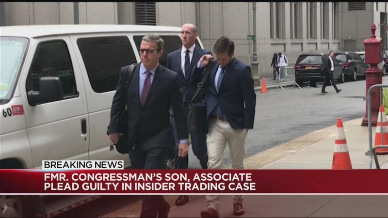 Fmr. congressman's son, associate plead guilty in insider trading case
