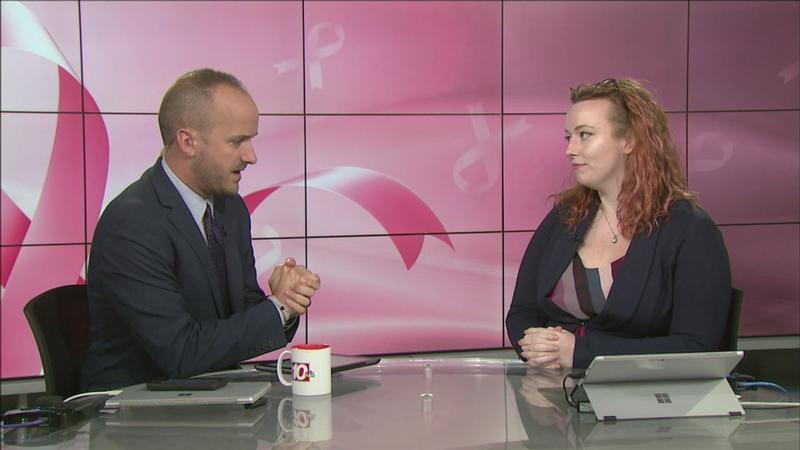 Brennan Somers interviews Emily Goldsmith, the event manager for the Making Strides Against Breast Cancer walk