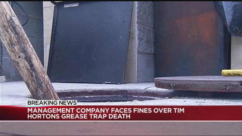 Management company faces fines over Tim Hortons grease trap death
