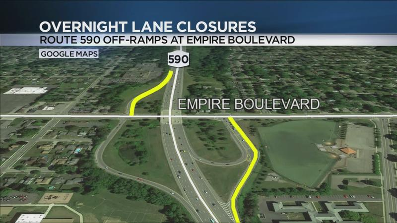 Overnight closings of Empire Boulevard off-ramps to continue through Friday