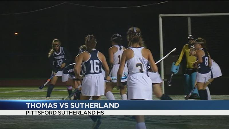 Sutherland edges Thomas in field hockey