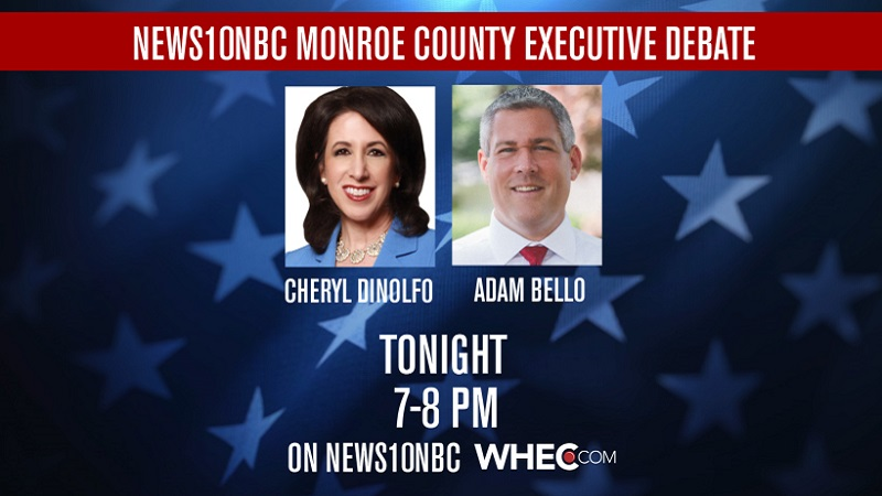 Monroe County executive candidates to square off in live debate on News10NBC