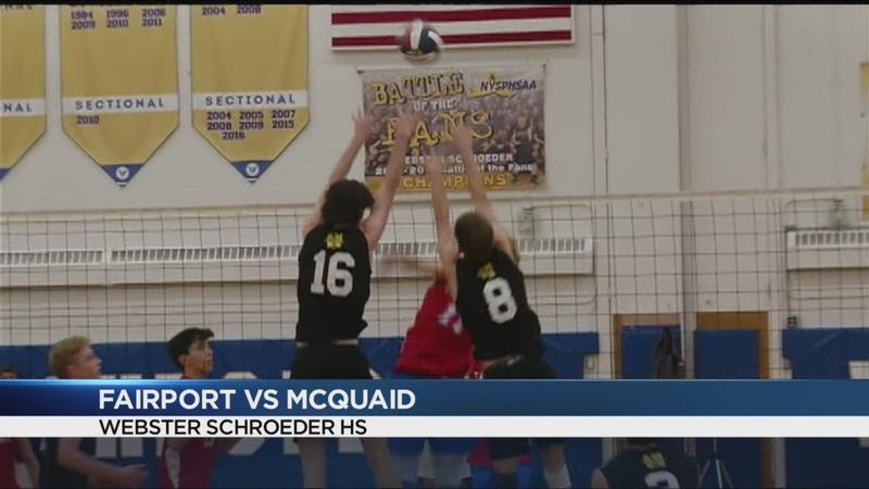 Boys volleyball Section V highlights