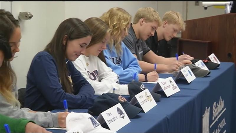 Brighton High School seniors sign letters of intent