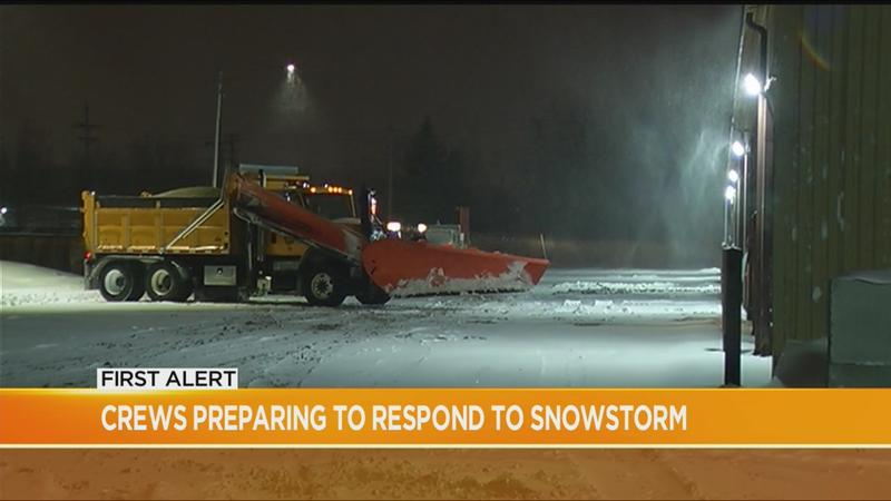 Crews get ready for, respond to first winter storm of the season