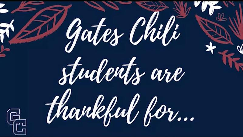 Gates Chili students share what they are thankful for