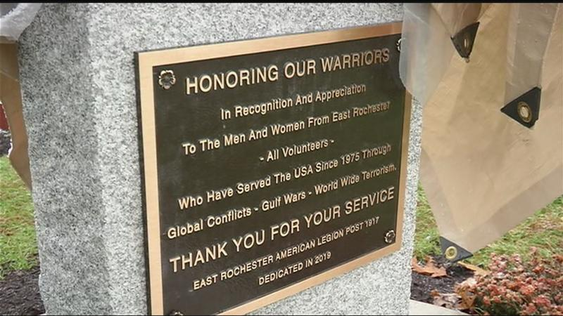 New monument to veterans in East Rochester
