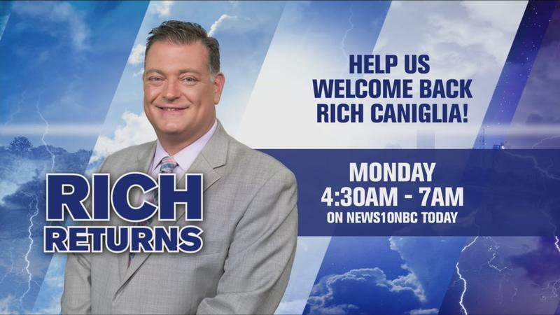 Rich Caniglia to return to News10NBC next week