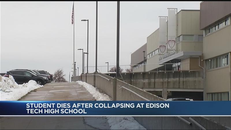Student dies after collapsing at Edison Tech High School
