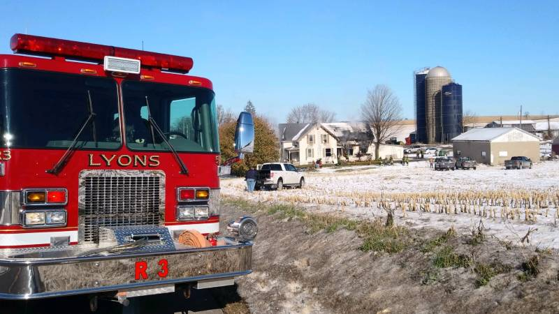 First responders battle blaze in Lyons