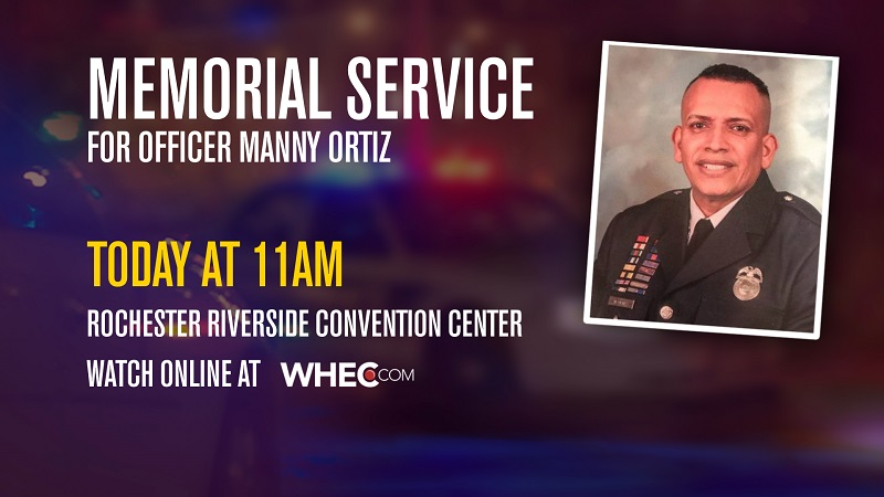 Watch: Memorial service for Officer Manny Ortiz