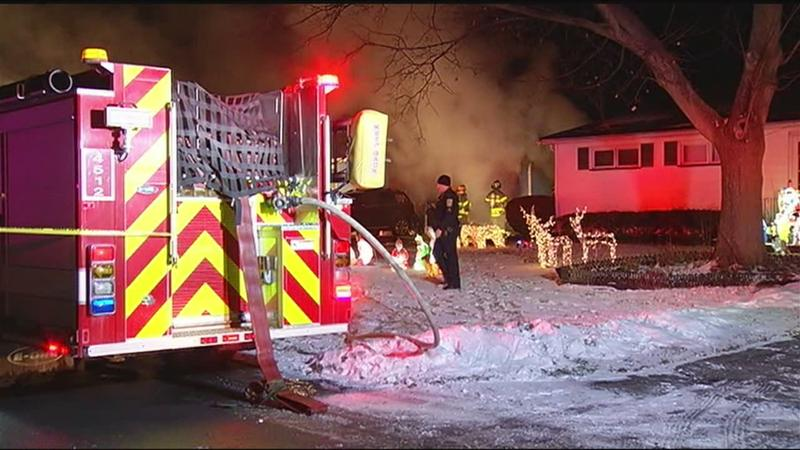 Man in guarded condition after house fire on Merrydale Drive