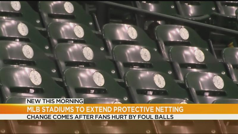 More protective netting coming to baseball stadiums